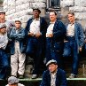 Still of Morgan Freeman, William Sadler, Larry Brandenburg, Neil Giuntoli and David Proval in The Shawshank Redemption