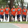 Still of Adam Sandler, Chris Rock, Rob Schneider, David Spade and Kevin James in Grown Ups