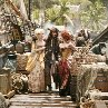Still of Johnny Depp, Vanessa Branch and Lauren Maher in Pirates of the Caribbean: At World's End