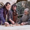 Still of Peter Jackson, Ian McKellen and Hugo Weaving in The Hobbit: An Unexpected Journey