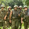 Still of Robert Downey Jr., Ben Stiller, Jay Baruchel, Jack Black and Brandon T. Jackson in Tropic Thunder